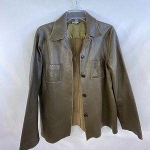 Rozae Nichols Leather Shirt Jacket - M/L